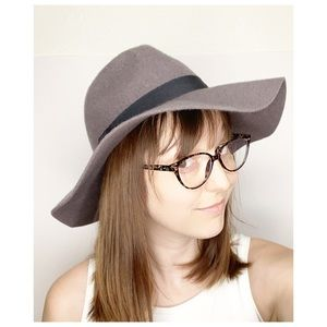 Cotton On 100% Wool Wide Brim Hat Gray